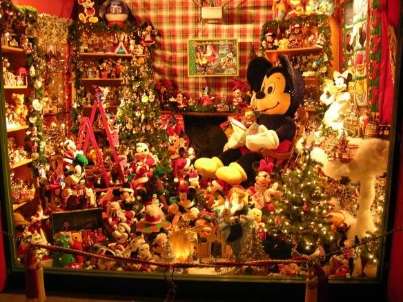 Les Mize of Nextdoor Lucas Valley/Marinwood shares his holiday spirit by decorating his home with a Disney theme that includes hundreds of Disney figurines among his holiday lights.