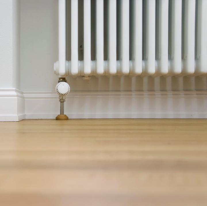 radiator and parquet